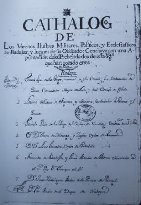 CATÁLOGO DE VARONES ILUSTRES DEL OBISPADO  DE BADAJOZ (ASCENSIO DE MORALES, 1754)