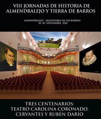 PROGRAMA DE LAS VIII JORNADAS DE HISTORIA DE ALMENDRALEJO Y TIERRA DE BARROS